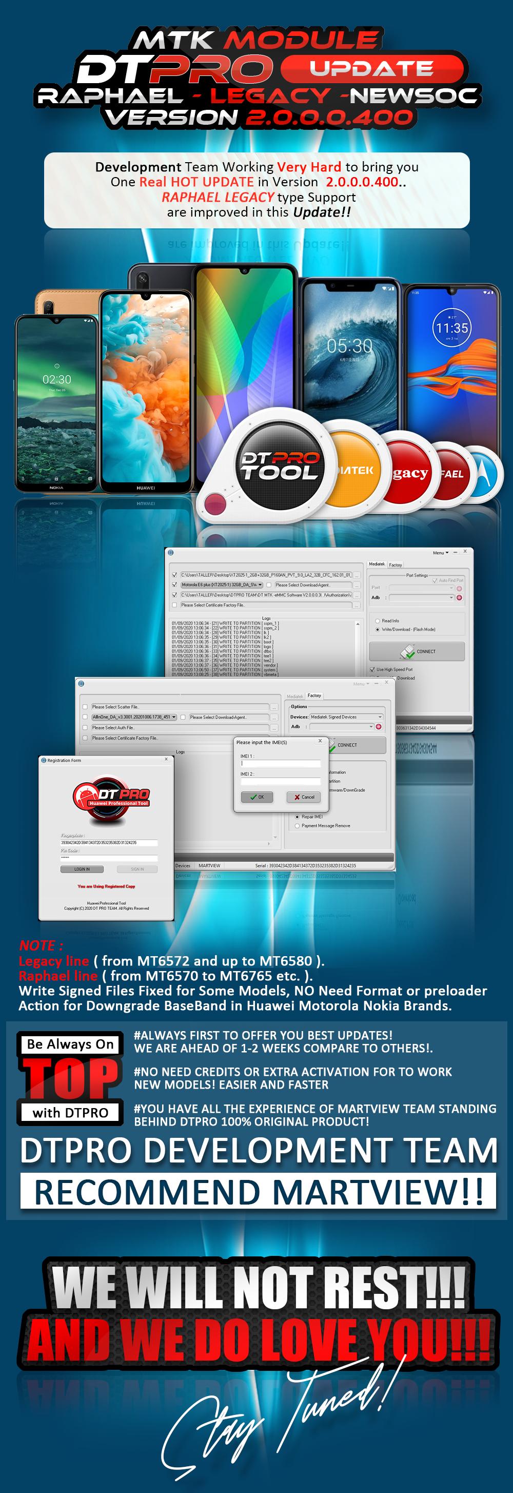 DT MTK -eMMC Software V2.0.0.0.400  New models and SOC Support