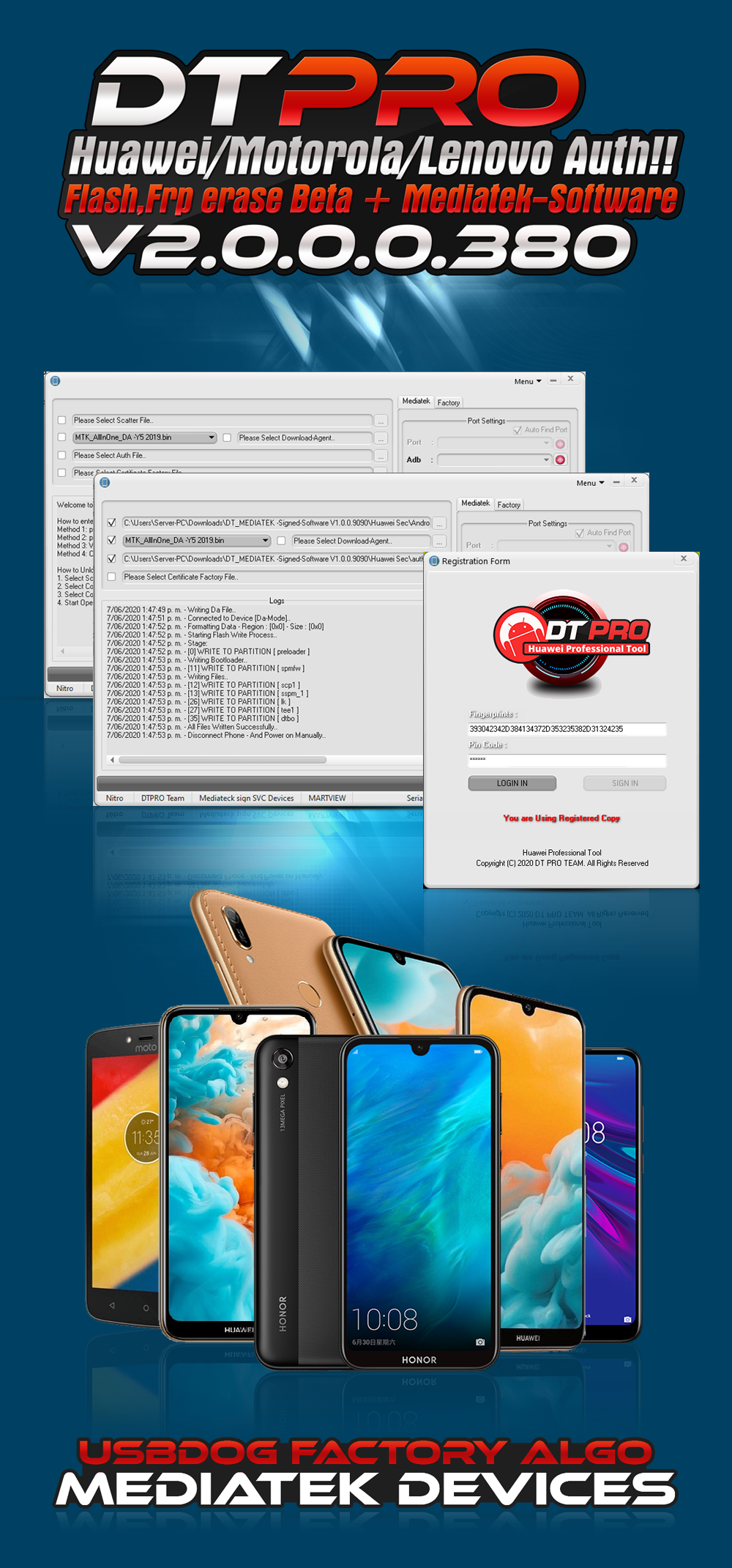 DT MTK -eMMC Software V2.0.0.0.380 Motorola, Huawei, lenovo and More Unique & World First