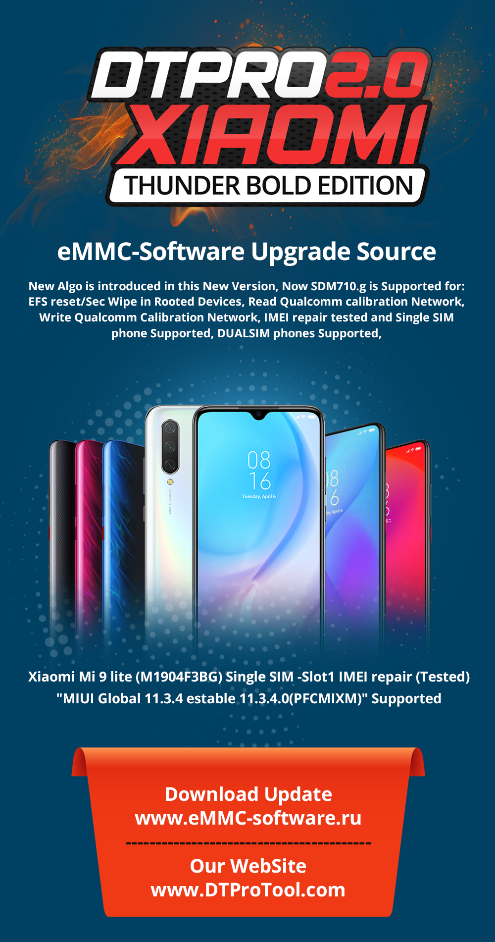 DT QUALCOMM -eMMC Software V1.0.080809 Thunder Bold Edition!! Xiaomi DualSIM Imei repair for Hot New Models & More
